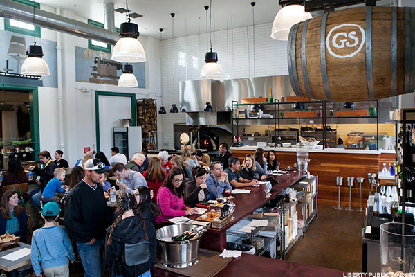 San Diego is a Navy town, so it's inevitable that decommissioned military spaces get a second life here.Its new food hall, which opened in 2016, is on the site of the former Naval Training Station.Among the offerings are Mess Hall, a chef-driven farm-to-fork concept; Stuffed!, featuring a stuffed burger menu; Parana, empanadas; Fishbone Kitchen, a seafood restaurant and fishmonger; Lolli San Diego Sweets; and the butcher Liberty Meat Shop.