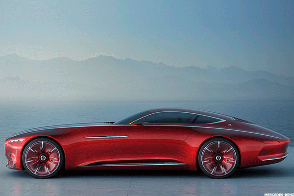 This concept car from Mercedes-Benz can accelerate to 60 mph in less than 4 seconds, according to the German car-maker. Its top speed is said to be 155 mph. A single charge can power the car for 200 miles.
