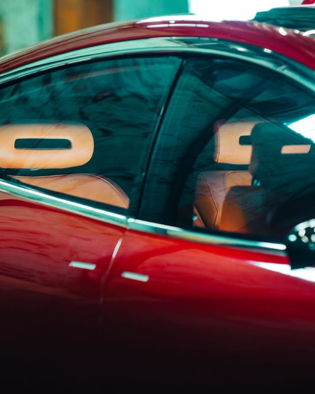 Fisker's EMotion comes with either a caramel or midnight black leather interior.