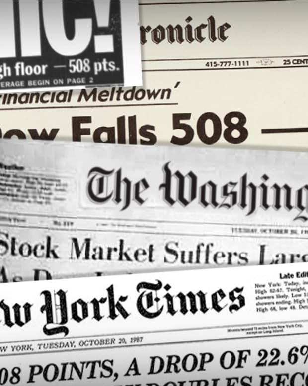 Top Headlines From Black Monday and the Stock Market Crash of 1987