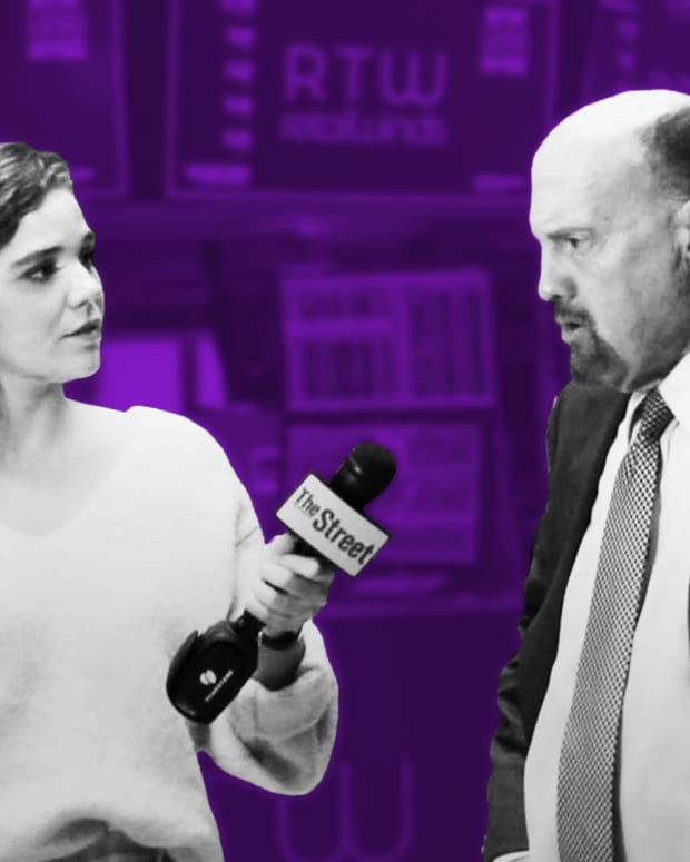 Jim Cramer on Larry Kudlow, Marc Benioff and Netflix's Earnings