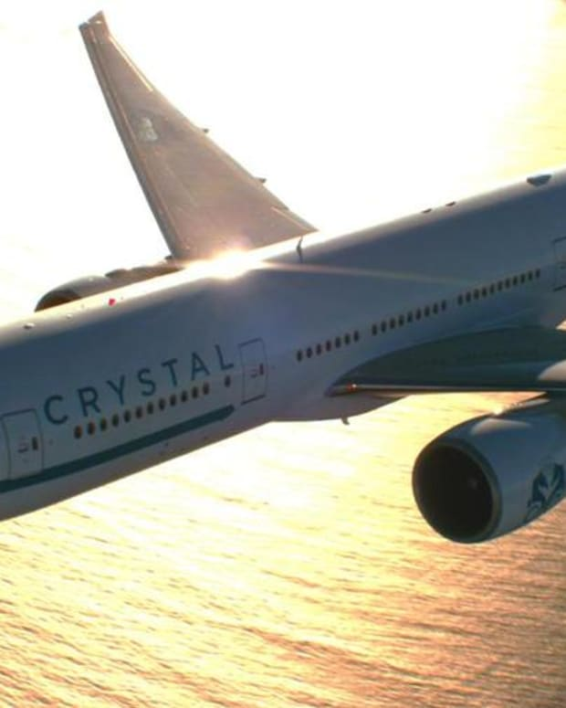 Inside Crystal Cruises' Mind Blowing Boeing 777 Private Jet That Seats Only 84 People