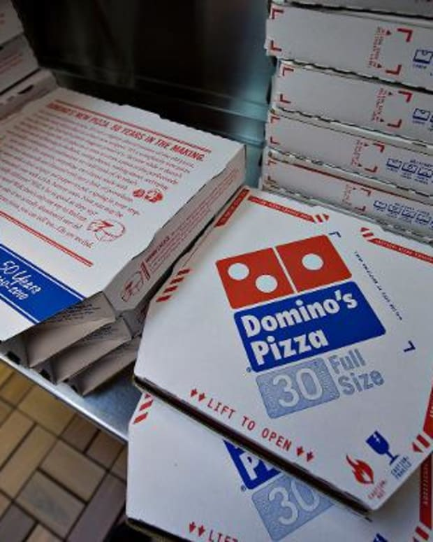 Domino's is still reeling in more sales than last year.