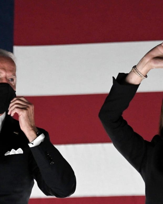Biden, pictured with running mate Kamala Harris, said his administration would put science before politics. Photo: AFP