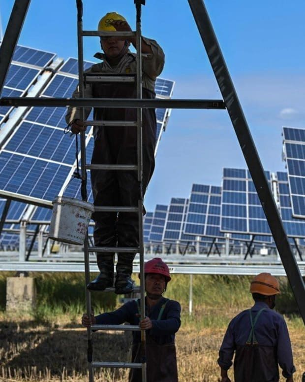 Annual renewable energy investments need to nearly triple to reach international climate goals, according to the Climate Policy Initiative and the International Renewable Energy Agency. Photo: AFP
