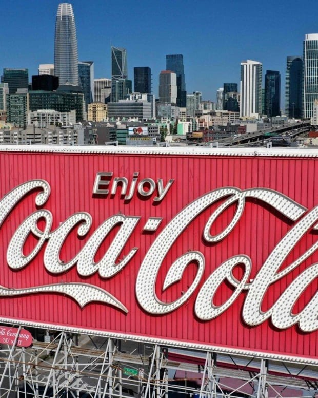 A Coca-Cola billboard in San Francisco, California. Photo: AFP