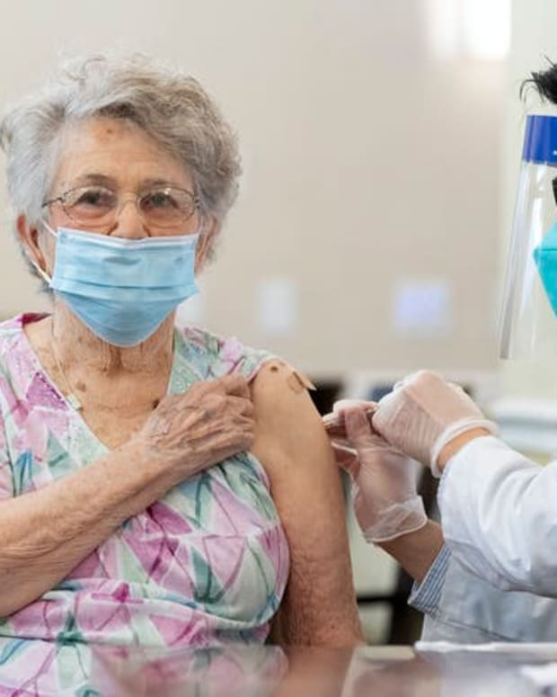 By mid-January, only about a quarter of the COVID-19 vaccines distributed for U.S. nursing homes through the federal program had reached people's arms. Paul Bersebach/MediaNews Group/Orange County Register via Getty Images