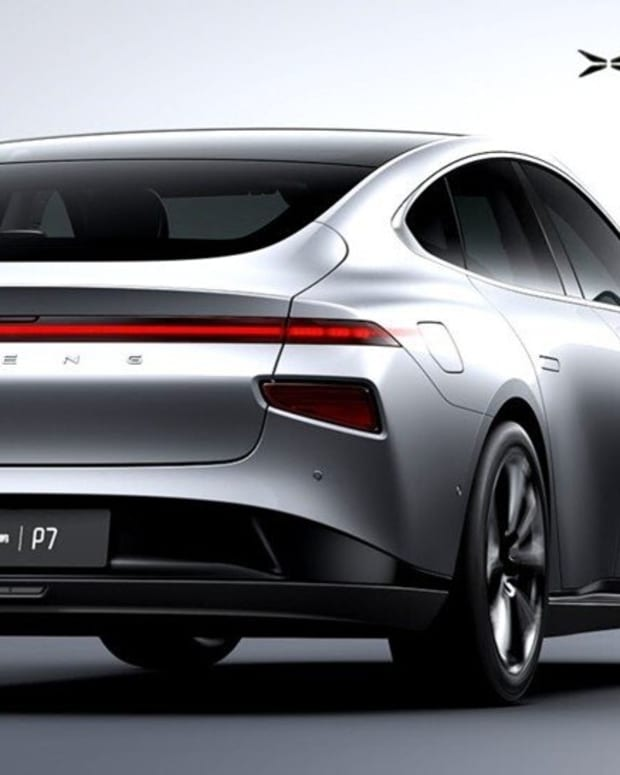 A Xpeng P7 all-electric saloon. Photo: Xpeng