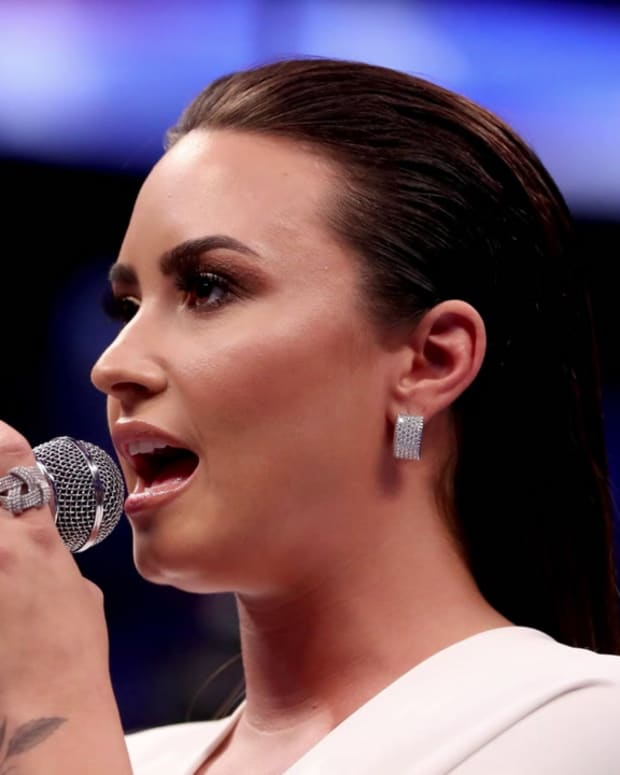 Demi Lovato Sings The National Anthem Ahead of Super Bowl LIV