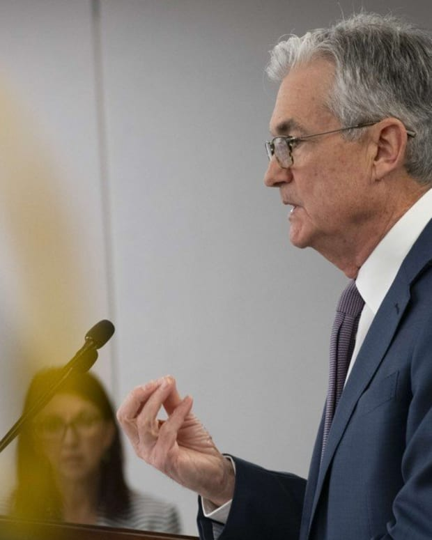 Federal Reserve Chair Jerome Powell announces a half percentage point interest rate cut during a speech on March 3, 2020 in Washington, DC. Photo: AFP
