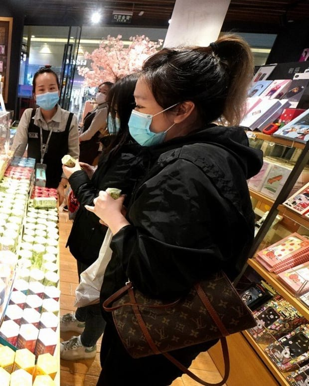 China's retail sales fell by almost 16 per cent in March. Photo: Xinhua