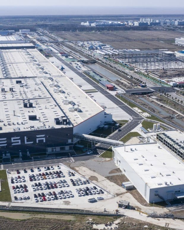 The Tesla Inc. Gigafactory in Shanghai was the most notable US investment in China in 2019. Photo: Bloomberg