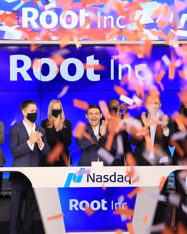 Root IPO celebration October 28 2020