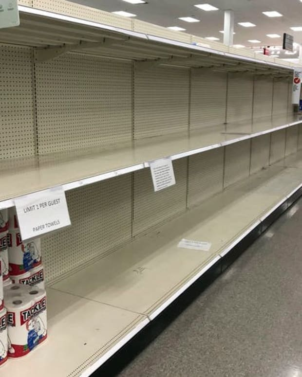 A Target in Sheridan, Colorado, was very low on paper towels in November 2020.
