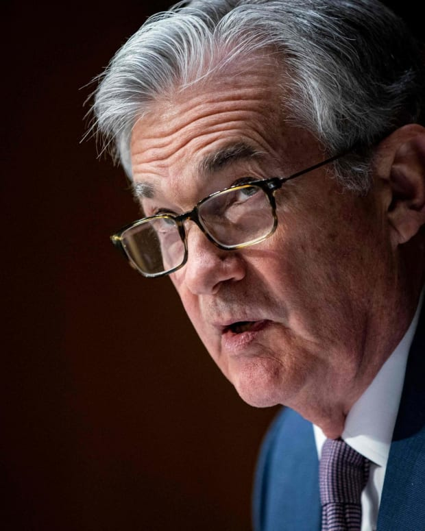 Jerome Powell, the chairman of the Federal Reserve, said any inflationary pressure from the large capital infusions to the US economy would be transitory and that the Fed did not expect to raise interest rates until 2023. Photo: AFP