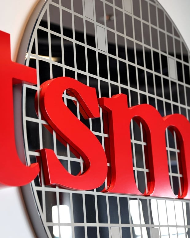 The logo of Taiwan Semiconductor Manufacturing Co (TSMC) is pictured at its headquarters, in Hsinchu, Taiwan, Jan. 19, 2021. Photo: Reuters