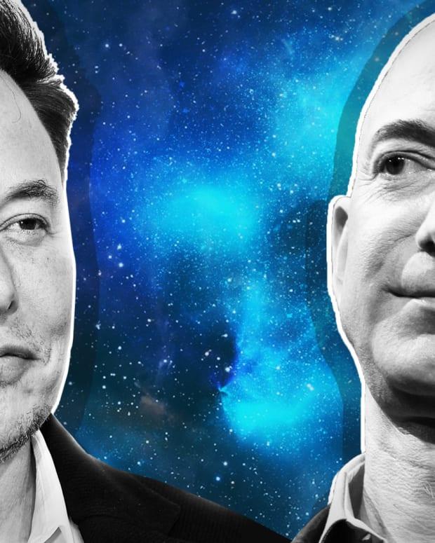 Elon Musk Jeff Bezos Lead