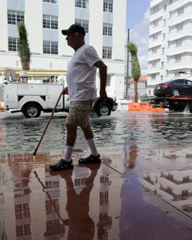 High-tide flooding has become a frequent problem in the Miami area.