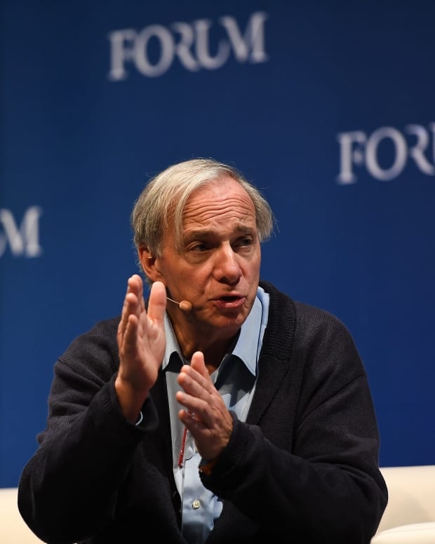 Ray Dalio, Founder, Co-Chief Investment Officer & Co-Chairman, Bridgewater Associates on the Forum Stage during day two of Web Summit 2018 at the Altice Arena in Lisbon, Portugal.