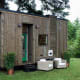 Tiny Heirloom's compact mobile houses let you pick up and go at the drop of a hat with a bumper-pull travel trailer.Photo: Tiny Heirloom