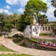 San Antonio is famous for its Paseo del Rio, above, and The Alamo, a shrine and museum located in the heart of downtown.