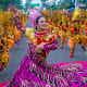 """11. PhilippinesIn the survey, the Philippines ranked No. 8 in the """"personal happiness"""" category and No. 9 for """"finding friends."""" Above, the Sinulog festival in Cebu.Photo:  Kobby Dagan / Shutterstock"""