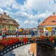 """19. RomaniaRomania was in the top 20 in all the categories of """"language,"""" """"finding friends,"""" """"feeling welcome,"""" and """"ease of settling in."""" Above, the historical center of Sibiu, Romania.Photo: Dziewul / Shutterstock"""