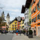 Kitzbuhel dates back to medieval times; today, rustic Tyrolean guesthouses and upscale shops line its streets. The area offers a variety of winter and year-round sports.Photo: JeeJantra / Shutterstock