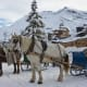 Cars are forbidden in Avoriaz. Transport around the resort during winter includes horse-drawn sleighs and snowmobiles.Photo: Shutterstock