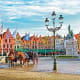 BrugesBruges, with its medieval buildings, cobbled streets and canals, is beautiful - and clean. Above, horse carriages in Grote Markt square, the historic center of the city and a popular tourist spot.Photo: Shutterstock