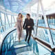 Take a Stroll on a Glass WalkwayThis over-the-ocean glass pathway is 60 feet long, cantilevered 128 feet above thesea and extends 28 feet beyond the edge of the Regal Princess. On your way, stop and have a drink in the glass-bottomed bar.Photo: Princess Cruises