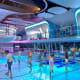 Roller SkatingIt may initially seem unwise to roller skate on a cruise ship, butthese rinks,onboard Royal Caribbean's Quantum of the Seas and Anthem of the Seas,are indoors. Hovering above the action is a floating DJ booth.Photo: Royal Caribbean