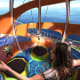 Virtual Reality Bungee TrampolineThe refurbished Mariner of the Seas will offer the opportunity to strap in and don a VR headset to bounce over moon craters or compete in intergalactic games.Photo: Royal Caribbean