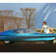 Buick Century Cruiser, 1969This self-driving concept by Buick was conceived for the automated highways of the future, where steering wheels would be unnecessary. The vehicle had swiveling contour seats, a refrigerator, and a TV set. The idea was, when you pulled onto the freeway, a punched card with programmed routes would take over, piloting the car to your destination by information transmitted from electronic highway centers. The car's progress would be shown on a map projected on a radar-like screen. Yes, please.Photo: GM