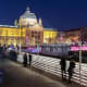 Zagreb's Christmasstalls offer souvenirs and Christmas decorations, winter specialities includingstrukle,(a warm baked pastry dish with soft cheese) mulled wine, hot chocolate and Christmas cookies. Lanterns light up the avenues of trees and the old music pavilion in Zrinjevac Park looks like a little glittering palace.Photo: Shutterstock