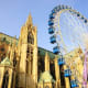 Metz, FranceDates: Nov. 18 - Dec. 30, 2018One of the most beautiful Christmas markets in France is in Metz. See the ice sculptures at the Frozen Fairyland, then warm up cold handswith a hot mulled wine or apple juice. Above, the Christmas Ferris wheel in front of the cathedral of Metz.Photo: Shutterstock