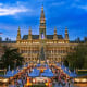 ViennaDates: Nov. 17 - Dec. 24, 2018Vienna is one of the best destinations in the world to celebrate Christmas. The entire city turns into a big, magical and unique Christmas market. The event dates back to the Middle Ages when, in 1298, Albrecht I granted Vienna's citizens the privilege of holding a December Market or Krippenmarkt. The Viennese Dream Christmas Market in front of the City Hall, above, is one of the highlights.Photo: Shutterstock