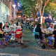 Winston-Salem, N.C. Annual expenses: $38,435 Median home price: $128,200 Winston-Salem has a population of more than 242,000 and is home to Wake Forest University and Winston-Salem State University. Above, diners on Fourth Street.Photo: Visit Winston-Salem/J. Sinclair