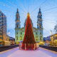 Budapest, HungaryDates: Nov. 27, 2018 - Jan. 2, 2019Budapest'sAdvent Feast at the Basilica is a favorite Christmas market, not just in Hungary, but all of Europe. It blends old European traditions with modern elements such as flash mobs and a light show on the facade of St. Stephens Basilica that spectators can view with 3-D glasses.Photo: Shutterstock