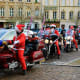 The Metz markets fill the city's six main squares with hand-crafted gifts and traditional treats. Above, Santa Claus (and helpers) ride through town on motorcycles.Photo: Elena Dijour / Shutterstock