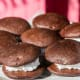 """MaineWhoopie pie, blueberry pie, wintergreen, maple syrup, Moxie soft drinkFrosting-stuffed chocolate cookies are one of Maine's favorite comfort foods, though the recipe for whoopie pie originated with the Amish in Pennsylvania. Depending on where you eat them, they have different names, including """"gobs"""" and """"black moons.""""Photo: Shutterstock"""