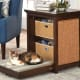 Cat's Murphy Bed$349.95 at Hammacher Schlemmer It's a side table! No, it's a pull-down cat bed with built-in storage! It's all of these! If you live in the world's smallest apartment, this space-saving cat murphy bed provides cats a cushioned bed at night and folds up to form a stylish end table during the day. It has a pair of shelves with fabric totes for stowing cat toys or other stuff. The sides of the table have built-in sisal scratching pads.Photo: Hammacher Schlemmer