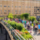 Highline Park, New York CityThis 1.45-mile-long elevated linear park, greenway and rail trail was created on a historic freight rail line elevated above the streets on Manhattan's West Side in New York City.Photo:pisaphotography / Shutterstock