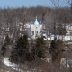 On a hillside overlooking Centralia, outside the fire, is the Assumption of the Blessed Virgin Mary, a Ukrainian Greek-Catholic Church. The church is still in use.Photo: Mredden at English Wikipedia
