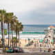 Manhattan Beach, Manhattan Beach, Calif.This beach in the Los Angeles area has volleyball, good waves for surfing and a pedestrian walkway. There's plenty of shopping and restaurants nearby.Photo: Lucky-photographer / Shutterstock