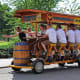 """On the lighter side, Hungary has great beer, and tourists can hire a """"beer bike,"""" pictured, a sightseeing tour around Budapest that is a rolling beer bar with a sober driver.Photo: velirina / Shutterstock"""
