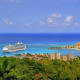 Top international destinations:Caribbean (cruise): 34.7%Caribbean cruises topped the list for most popular international destinations. Above, the port town of Ocho Rios, Jamaica.Photo: Shutterstock