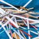 5. Straws, StirrersTotal count: 142,745Percent of all plastics found: 7.5%Type of plastics: Polypropylene (PP #5)Photo: Shutterstock
