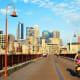 1. MinneapolisPopulation: 382,578Bike Score: 81.9Minneapolis boasts 34 miles of bike lanes, and the buses have bike racks, making it easy for a bike/bus commute. The bike share program, Nice Ride MN, stocks bikes in stations around the city.Photo: James Kirkikis / Shutterstock