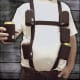 Six-Pack Suspenders with Detachable CooliesWear your beverage with class. Adjustable suspenders come with detachable neoprene custom can coolies, for $19.99.Photo: Six Pack Suspenders